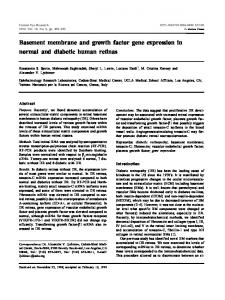 Basement membrane and growth factor gene expression in normal ...