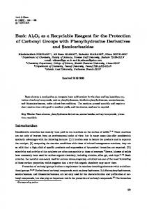 Basic Al2O3 as a Recyclable Reagent for the Protection of ... - DergiPark