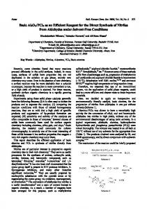 Basic Al2O3/PCl5 as an Efficient Reagent for the Direct Synthesis of ...
