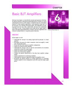Basic BJT Amplifiers - McGraw-Hill Higher Education