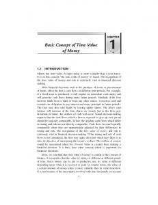 Basic Concept of Time Value of Money - New Age International