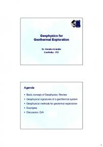 Basic concepts of Geophysics
