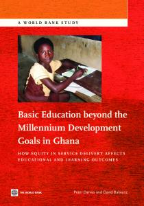 Basic Education beyond the Millennium Development Goals in Ghana