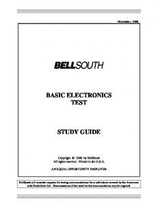 BASIC ELECTRONICS TEST STUDY GUIDE