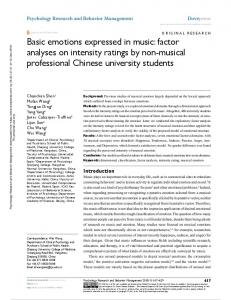 Basic emotions expressed in music: factor analyses