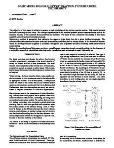 BASIC MODELING FOR ELECTRIC TRACTION SYSTEMS UNDER ...