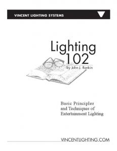 Basic Principles and Techniques of Entertainment Lighting