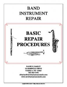 BASIC REPAIR PROCEDURES