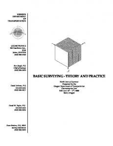 BASIC SURVEYING - THEORY AND PRACTICE