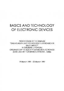 BASICS AND TECHNOLOGY OF ELECTRONIC DEVICES