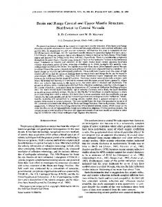 Basin and range crustal and upper mantle ... - Wiley Online Library