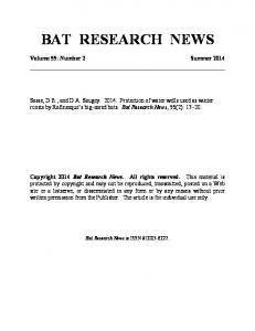 bat research news
