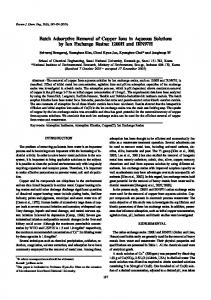 Batch Adsorptive Removal of Copper Ions in Aqueous ... - CiteSeerX