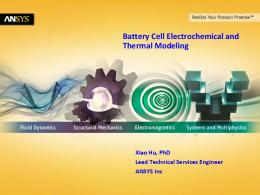 Battery Cell Electrochemical and Thermal Modeling