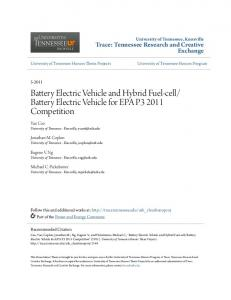 Battery Electric Vehicle and Hybrid Fuel-cell/Battery Electric Vehicle ...
