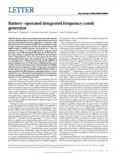 Battery-operated integrated frequency comb generator