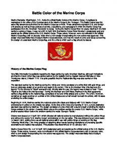 Battle Color of the Marine Corps