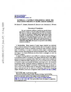 Bayesball: A Bayesian hierarchical model for evaluating fielding in ...