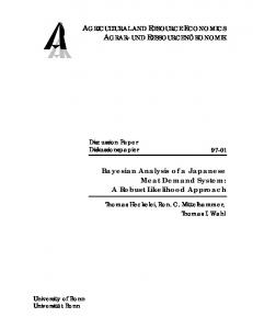 Bayesian Analysis of a Japanese Meat Demand ... - AgEcon Search