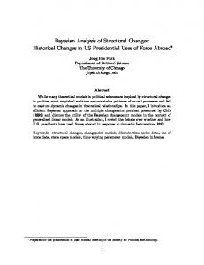 Bayesian Analysis of Structural Changes: Historical Changes in US ...