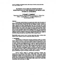 bayesian analysis of unemployment duration data in the ... - CiteSeerX
