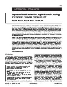 Bayesian belief networks: applications in ecology and natural ...