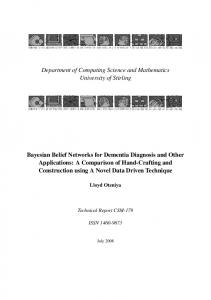 Bayesian Belief Networks for Dementia Diagnosis and Other ...