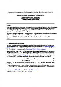 Bayesian Estimation and Inference for Markov ...