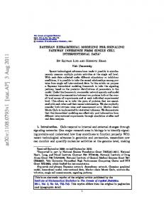 Bayesian hierarchical modeling for signaling pathway ... - arXiv