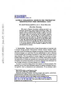 Bayesian hierarchical modeling for temperature reconstruction ... - arXiv