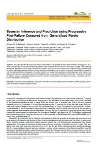 Bayesian Inference and Prediction using ... - Semantic Scholar