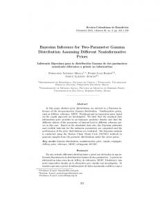 Bayesian Inference for Two-Parameter Gamma Distribution Assuming