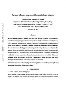 Bayesian inference on group differences in brain networks