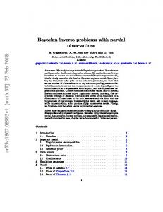Bayesian inverse problems with partial observations - arXiv