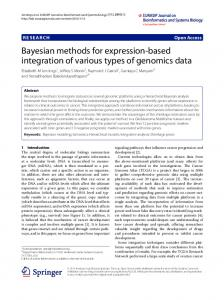 Bayesian methods for expression-based integration of ... - TAMU Stat