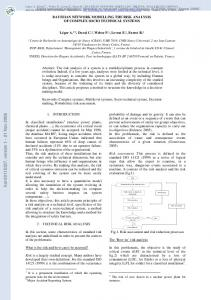 BAYESIAN NETWORK MODELLING THE RISK ANALYSIS OF