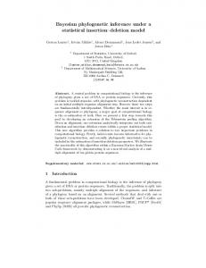 Bayesian phylogenetic inference under a statistical ... - CiteSeerX