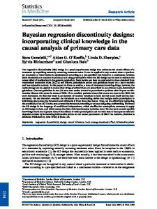 Bayesian regression discontinuity designs ... - Wiley Online Library