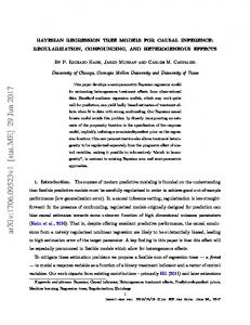 Bayesian regression tree models for causal inference - arXiv