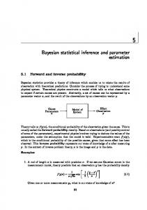 Bayesian statistical inference and parameter estimation