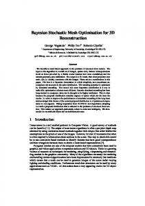 Bayesian Stochastic Mesh Optimisation for 3D Reconstruction