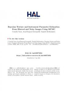 Bayesian Texture and Instrument Parameter Estimation From ... - Hal
