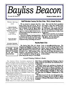 Bayliss Beacon v .20, Issue 5 March/April 2010