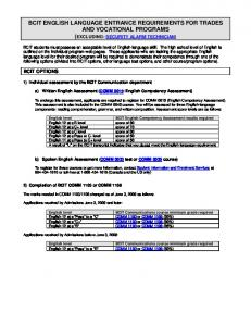 bcit : : registrar's office : : english language requirements for trades ...