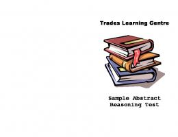 BCIT ~ Trades Learning Centre | Sample Abstract Reasoning Test