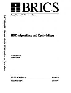 BDD Algortihms and Cache Misses - Semantic Scholar