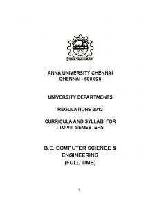 B.E. COMPUTER SCIENCE & ENGINEERING (FULL TIME)