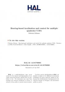 Bearing-based localization and control for multiple quadrotor UAVs