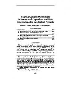 Bearing Cultural Distinction: Informational Capitalism and New ...