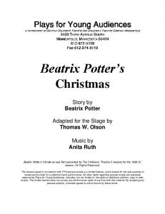 Beatrix Potter's Christmas - Plays for Young Audiences